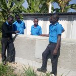 The Water Project: El'longo Secondary School -  Finished Latrines