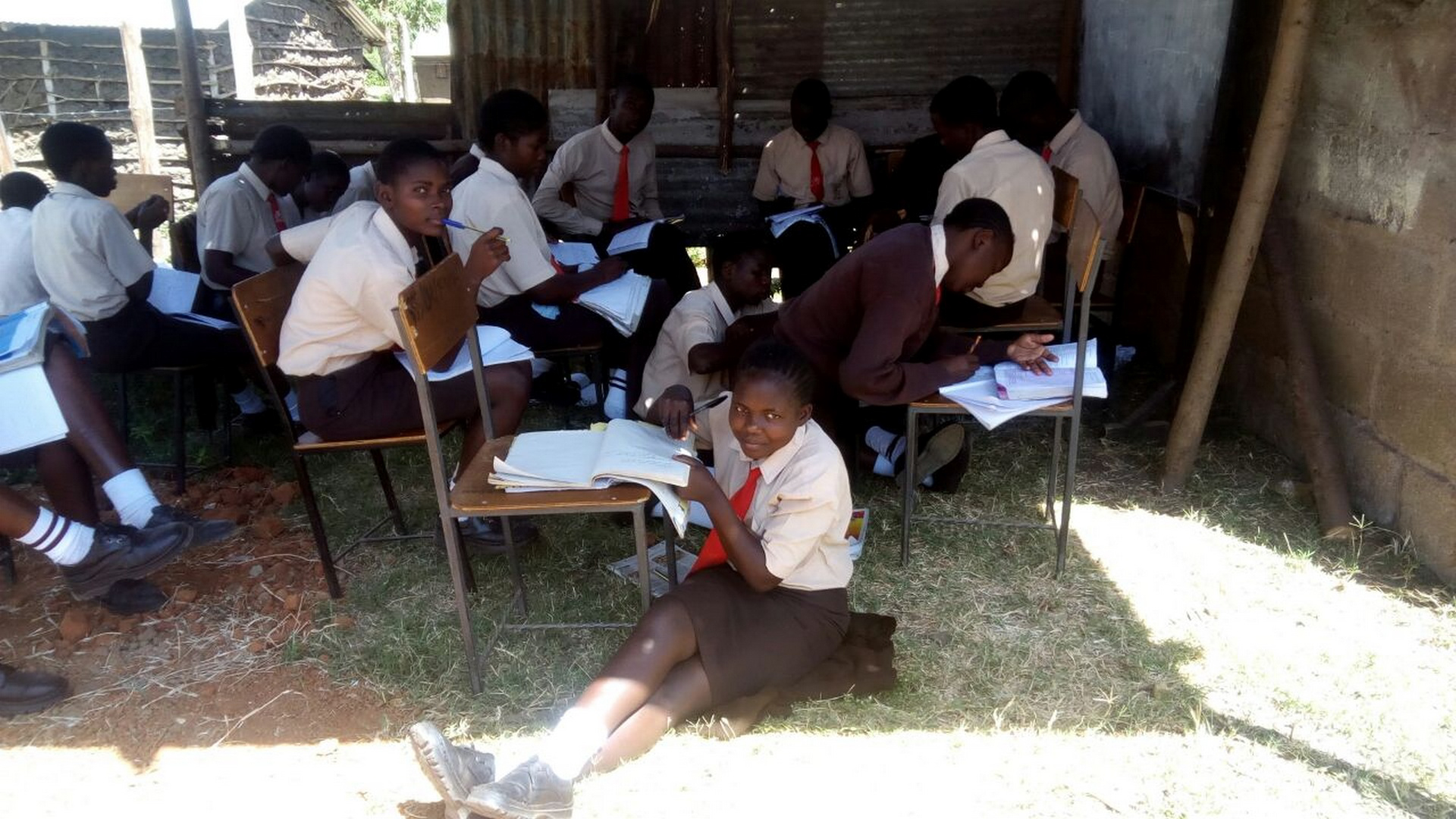 The Water Project : 4-kenya18021-students-in-class