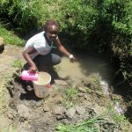 The Water Project: Futsi Fuvili Community, Simeon Shimaka Spring -  Current Water Source