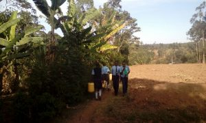 The Water Project:  Students Going To Fetch Water