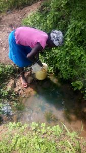 The Water Project:  Lilian Fetching Water