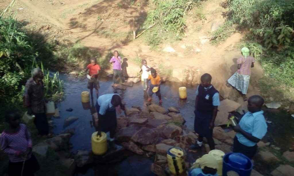 The Water Project : 7-kenya18035-current-water-source