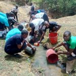 The Water Project: Shanjero Secondary School -  Fetching Water