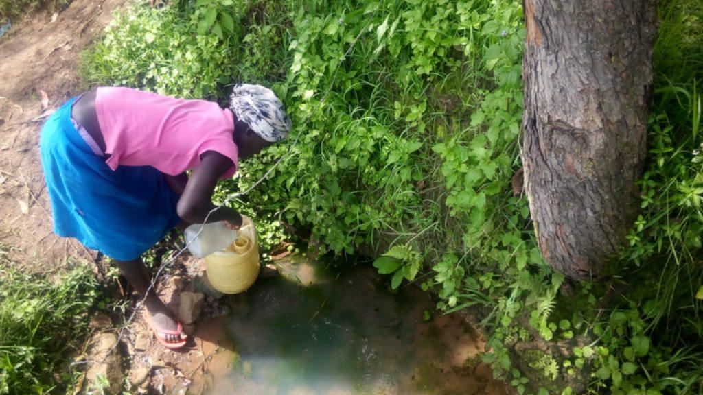 The Water Project : 7-kenya18115-lilian-fetching-water