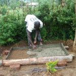 The Water Project: Luyeshe Community -  Sanitation Platform Construction