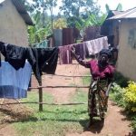 The Water Project: Wasenje Community, Margaret Jumba Spring -  Clothesline