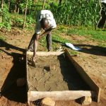 The Water Project: Kakubudu Community, Fred Lagueni Spring -  Sanitation Platform Construction
