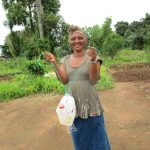 The Water Project: Benke Community, Waysaya Road -  Woman With Her New Hand Washing Station