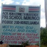The Water Project: Kenneth Marende Primary School -  School Sign