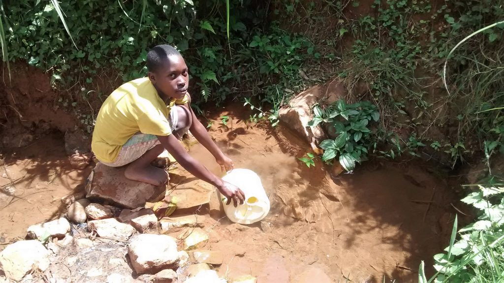 The Water Project : 1-kenya18104-fetching-water
