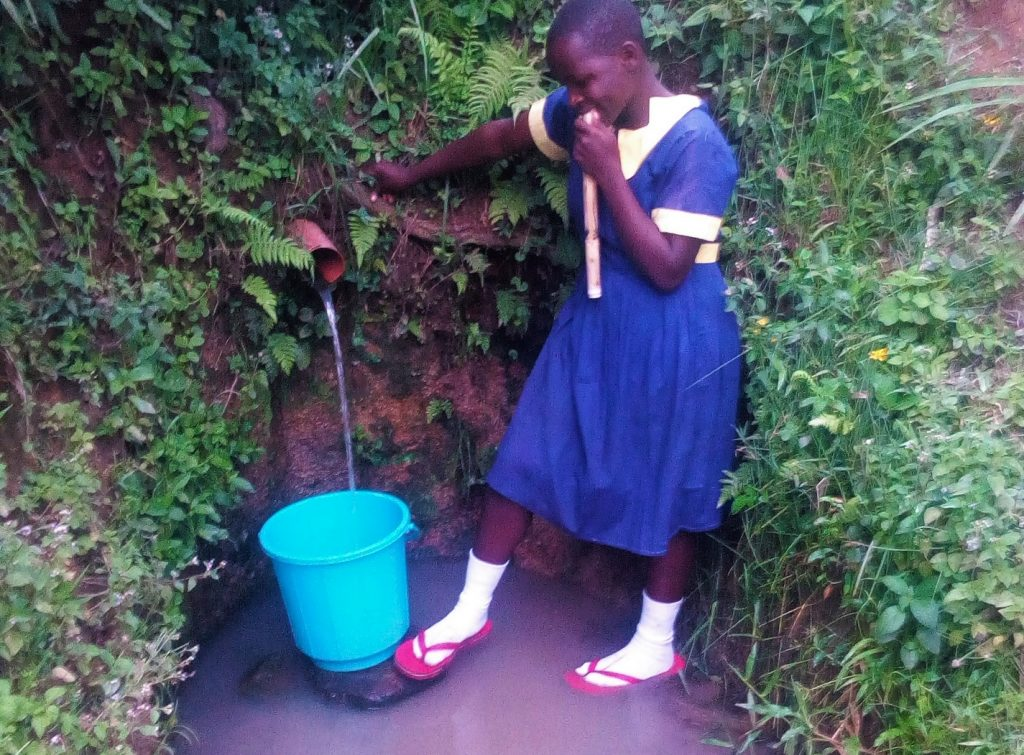 The Water Project : 1-kenya18109-fetching-water