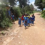 The Water Project: Masera Community A -  Students Coming Home To Eat Lunch