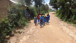 The Water Project:  Students Coming Home To Eat Lunch