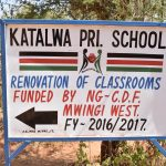 The Water Project: Katalwa Primary School -  School Sign