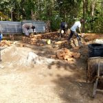 The Water Project: Madivini Primary School -  Latrine Construction