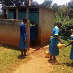 The Water Project: Eshilibo Primary School -  Girls Rinsing Their Hands