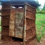 The Water Project: Jivovoli Community, Gideon Asonga Spring -  Latrine