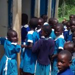 The Water Project: Rabuor Primary School -  Crowd At The Latrines