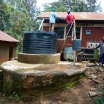 The Water Project: Eshiamboko Primary School -  Plastic Tank For The Kitchen