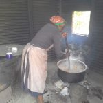 The Water Project: Kamuluguywa Secondary School -  The Cook In The School Kitchen