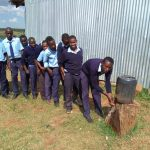 The Water Project: Sipande Secondary School -  Hand Washing Point