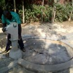 The Water Project: Eshitowa Community -  Pump Installation