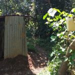The Water Project: Luvambo Community A -  Latrine And Improvised Hand Washing Station