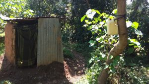 The Water Project:  Latrine And Improvised Hand Washing Station