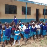The Water Project: Rabuor Primary School -  Students In Front Of Their Classrooms