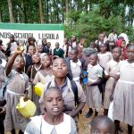 The Water Project: Lusiola Primary School -  Students At Their Gate