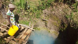 The Water Project:  Fasilia Hassan Fetching Water