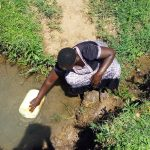 The Water Project: Mbande Community, Handa Spring -  Fetching Water