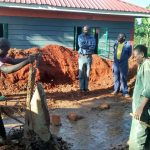 The Water Project: Womulalu Primary School -  Mixing Cement