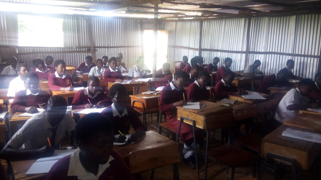 The Water Project : 3-kenya18046-students-in-class