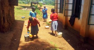 The Water Project:  Students Delivering Water To The School Kitchen