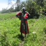 The Water Project: Masera Community A -  Woman Working On Her Farm