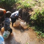 The Water Project: Burachu B Community -  Fetching Water
