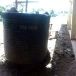 The Water Project: Sipande Secondary School -  Broken Plastic Tank