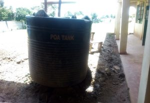 The Water Project:  Broken Plastic Tank