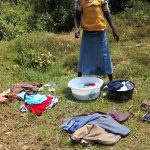 The Water Project: Jivovoli Community, Gideon Asonga Spring -  Laundry By The Spring