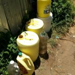 The Water Project: Masera Community, Ernest Mumbo Spring -  Water Containers