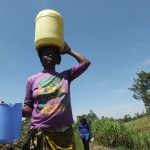 The Water Project: Elukho Community A -  Carrying Water