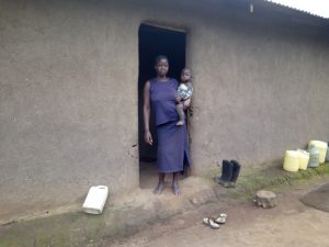 The Water Project:  Mercy Itevete Poses With Her Child