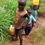 The Water Project: Burachu B Community -  Carrying Water