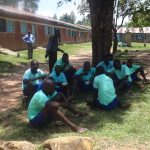 The Water Project: Musabale Primary School -  Students Eating Lunch