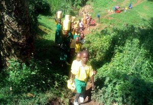 The Water Project:  Students Walking To The Spring