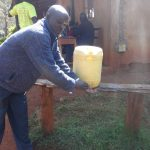 The Water Project: Isulu Primary School -  Hand Washing Station