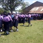 The Water Project: St. Stephen Maraba Secondary School -  Students Line Up For Lunch