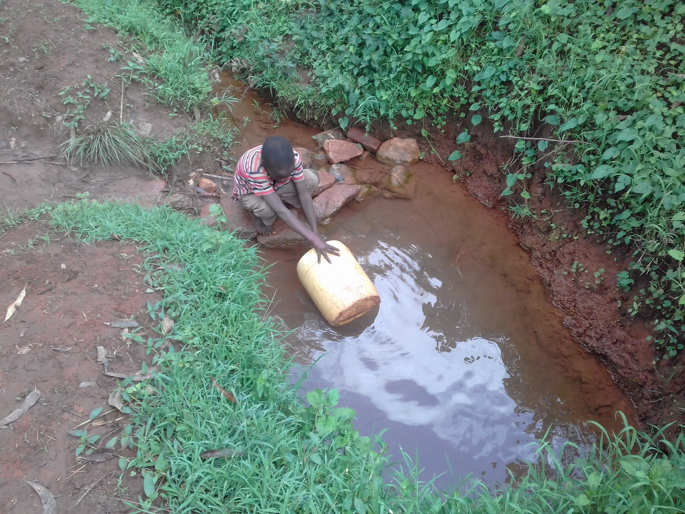 The Water Project : 8-kenya18050-spring-that-students-get-water-from