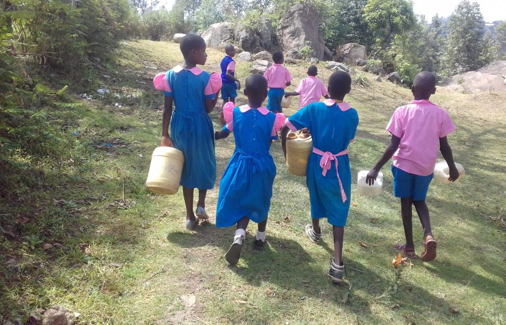 The Water Project : 8-kenya18051-students-going-to-find-water